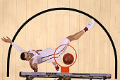Abdel Nader of the Iowa State Cyclones is foulded by AJ English of the Iona Gaels during the first round of the 2016 NCAA Men's Basketball Tournament...