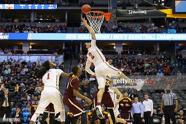 Abdel Nader of the Iowa State Cyclones makes a layup against the Iona Gaels during the first round of the 2016 NCAA Men's Basketball Tournament at...