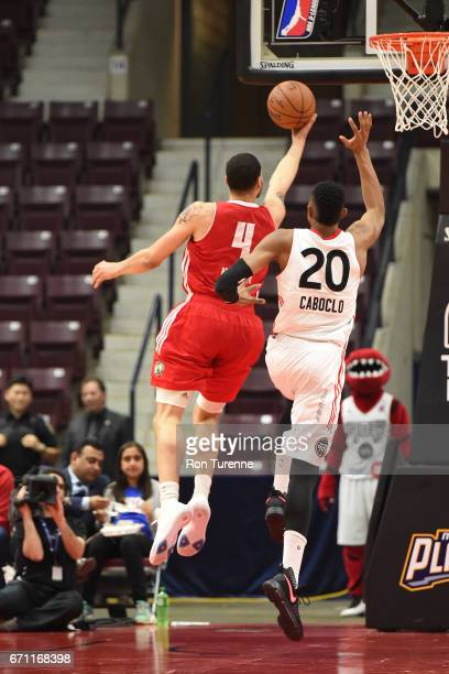 Abdel Nader of the Maine Red Claws drives to the basket against the Raptors 905 during Game Two of the NBA DLeague Eastern Conference Finals on April...