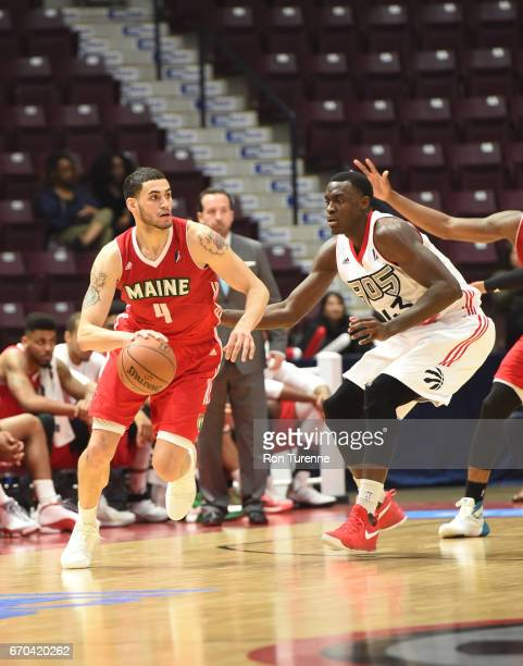 Abdel Nader of the Maine Red Claws handles the ball during the game against the Raptors 905 at the Hershey Centre on April 19 2017 in Mississauga...