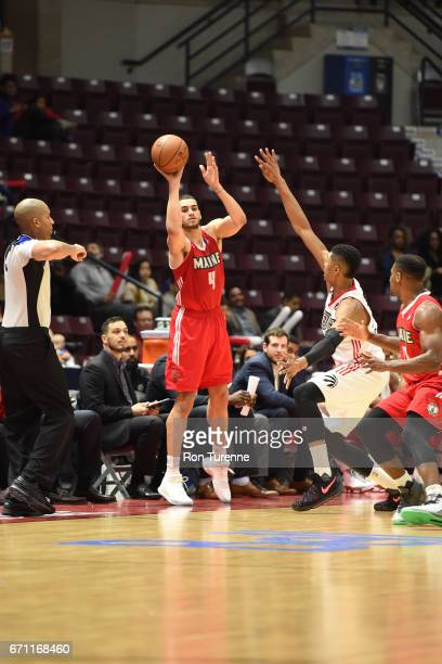 Abdel Nader of the Maine Red Claws inbounds the ball against the Raptors 905 during Game Two of the NBA DLeague Eastern Conference Finals on April 19...