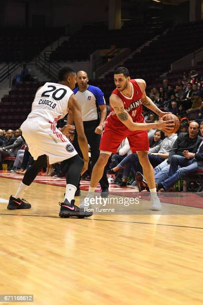 Abdel Nader of the Maine Red Claws looks to pass the ball against the Raptors 905 during Game Two of the NBA DLeague Eastern Conference Finals on...