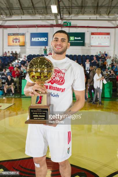 Abdel Nader of the Maine Red Claws received the Rookie of the Year Award before Game 1 of the NBADL Eastern Conference Finals against the Raptors 905...