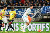 Abdelaziz Barrada of Marseille during the semifinal French Cup between Sochaux and Olympique de Marseille at Stade Auguste Bonal on April 20 2016 in...