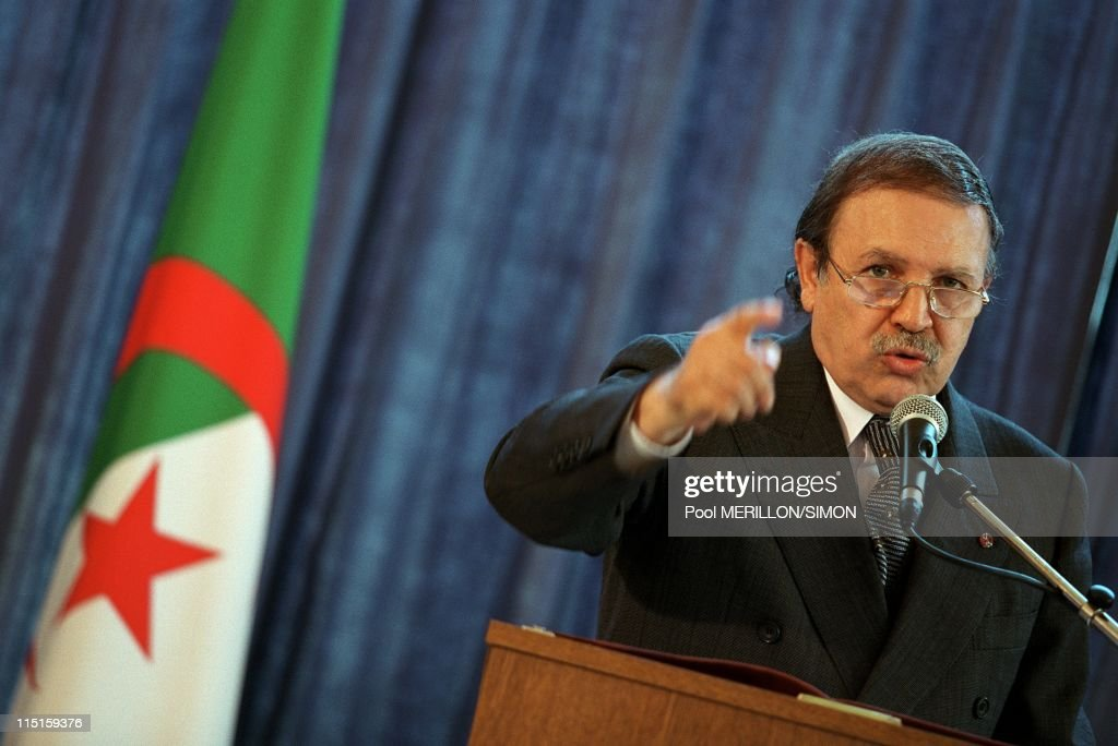 Abdelaziz Bouteflika in Verdun, France on June 17, 2000.