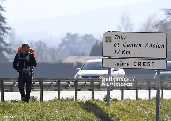 Abdelghani Merah the elder brother of Mohamed Merah who murdered seven people in southwestern France in 2012 in a spate of jihadists attacks walks...