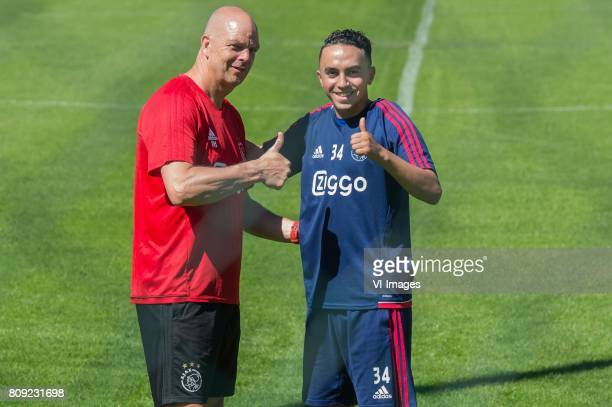Abdelhak Nouri of Ajax did recovery training with fysiotherapist Peter Hoogland of Ajaxduring the preseason summer training camp of Ajax Amsterdam at...