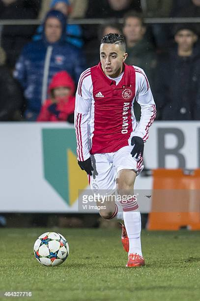 Abdelhak Nouri of Ajax during the 1/8 final Europa Youth League match between Ajax U19 and AS Roma U19 on February 24 2015 at De Toekomst in...