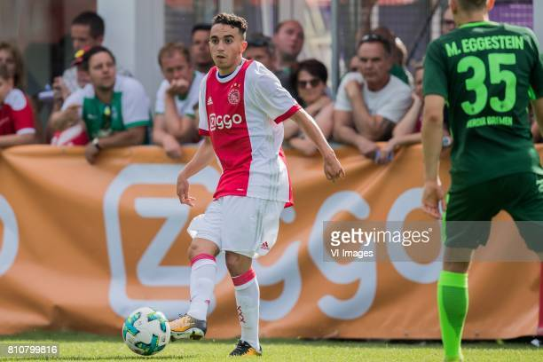 Abdelhak Nouri of Ajax during the friendly match between Ajax Amsterdam and SV Werder Bremen at Lindenstadion on July 08 2017 in Hippach Austria
