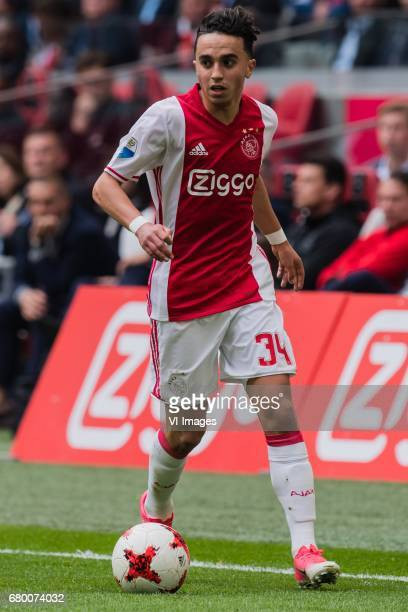 Abdelhak Nouri of Ajaxduring the Dutch Eredivisie match between Ajax Amsterdam and Go Ahead Eagles at the Amsterdam Arena on May 07 2017 in Amsterdam...