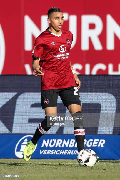 Abdelhamid Sabiri of FC Nuernberg in action during the Second Bundesliga match between 1 FC Nuernberg and SG Dynamo Dresden at Arena Nuernberg on...