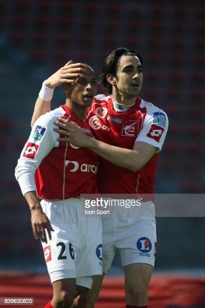 Abdeslam AKOUZAR / Cedric FAURE Creteil / Reims 31 eme journee de Ligue 2