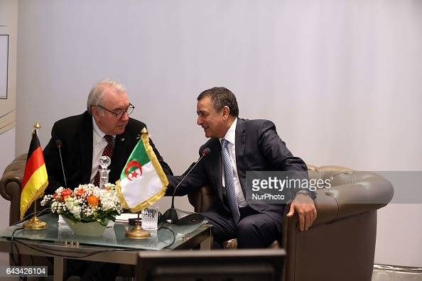 Abdesselam Bouchouareb Minister of Industry and Mines Algeria and Uwe Karl Beckmeyer German Deputy Minister to the Federal Minister for the Economy...