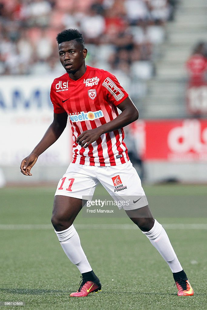 Abdou Coulibaly of Nancy during the French Ligue 1 between Nancy and Guingamp at Stade Marcel Picot on August 27 2016 in Nancy France