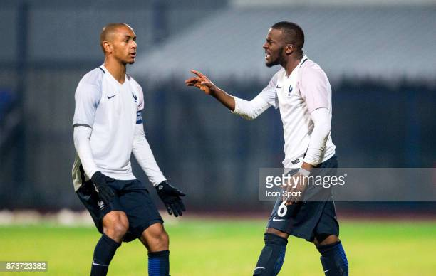Abdou Diallo of France and Tanguy Ndombele of France during the Under 21s Euro 2019 qualifying match between Slovenia U21 and France U21 on November...