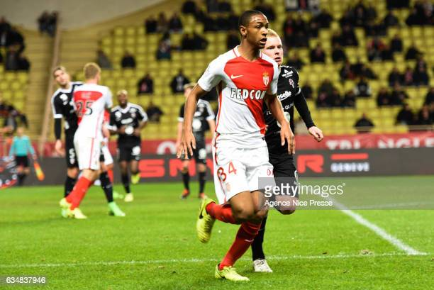 Abdou Diallo of Monaco and Florent Mollet of Metz during the Ligue 1 match between As Monaco and Fc Metz at Louis II Stadium on February 11 2017 in...
