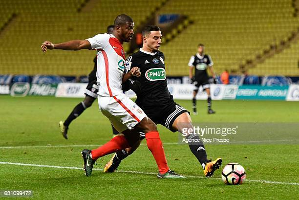 Abdou Diallo of Monaco during the French Cup match between Monaco and Ajaccio at Louis II Stadium on January 6 2017 in Monaco Monaco