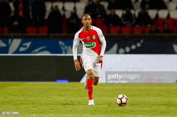 Abdou Diallo of Monaco during the Semi final of the French Cup match between Paris SaintGermain and As Monaco at Parc des Princes on April 26 2017 in...
