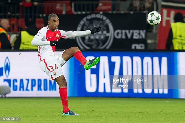 Abdou Diallo of Monaco in action during the UEFA Champions League match between Bayer Leverkusen and AS Monaco at the BayArena in Leverkusen Germany...
