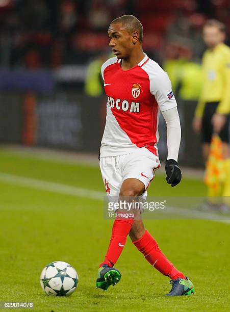 Abdou Diallo of Monaco in action during the UEFA Champions League match between Bayer Leverkusen and AS Monaco at the BayArena stadium in Leverkusen...