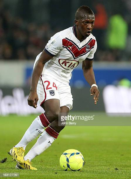 Abdou Traore of Bordeaux in action during the french Ligue 1 match between Lille LOSC and FC Girondins de Bordeaux at the Grand Stade Lille Metropole...