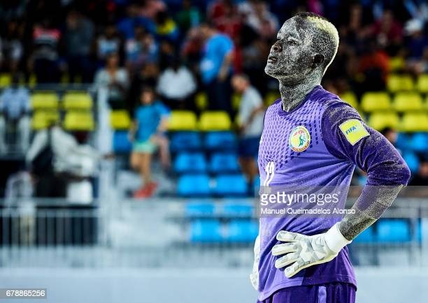 Abdoul Samba of Senegal looks on the FIFA Beach Soccer World Cup Bahamas 2017 quarter final match between Italy and Senegal at National Beach Soccer...