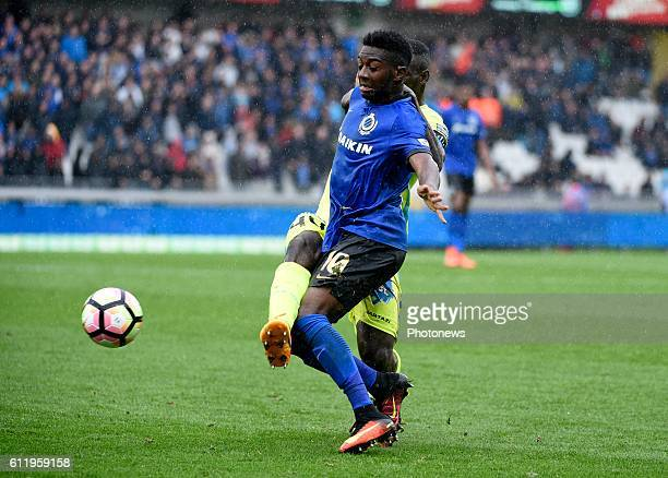Abdoulay Diaby forward of Club Brugge and Anderson Esiti of KAA Gent pictured during Jupiler Pro League match between Club Brugge KV and KAA Gent on...