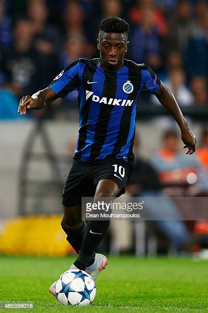 Abdoulay Diaby of Club Brugge in action during the UEFA Champions League qualifying round play off 2nd leg match between Club Brugge and Manchester...