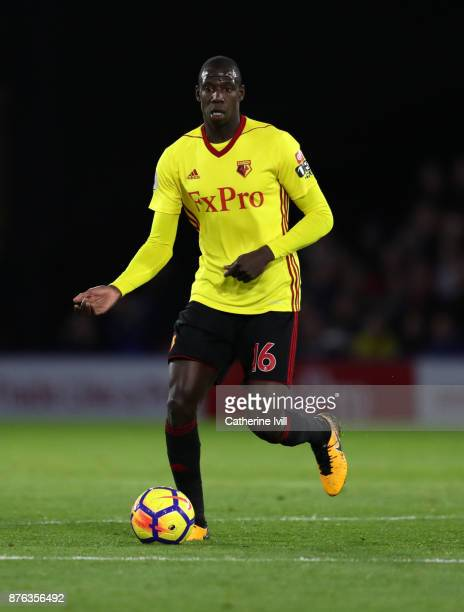 Abdoulaye Doucoure of Watford during the Premier League match between Watford and West Ham United at Vicarage Road on November 19 2017 in Watford...