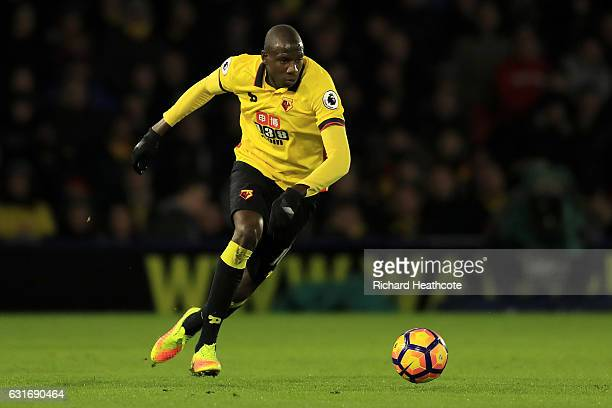 Abdoulaye Doucoure of Watford in action during the Premier League match between Watford and Middlesbrough at Vicarage Road on January 14 2017 in...