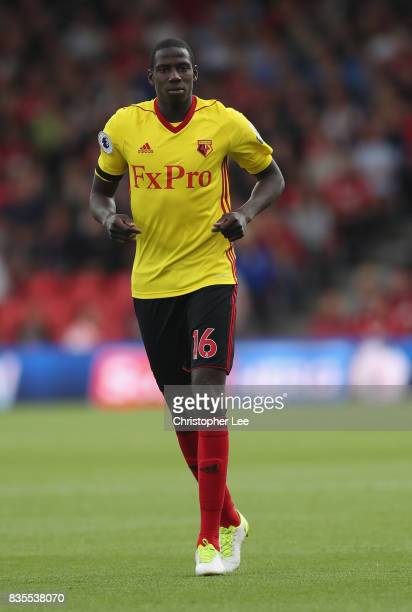 Abdoulaye Doucoure of Watford in action during the Premier League match between AFC Bournemouth and Watford at Vitality Stadium on August 19 2017 in...