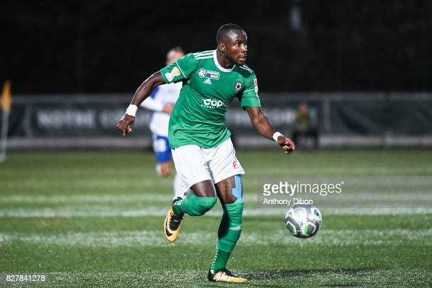 Abdoulaye SAne of Red Star during the first round of French League Cup match between Red Star and AJ Auxerre on August 8 2017 in SaintOuen France