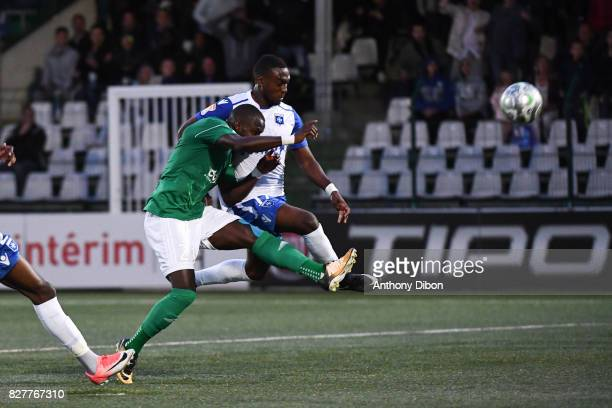 Abdoulaye Sane of Red Star misses his chance during the first round of French League Cup match between Red Star and AJ Auxerre on August 8 2017 in...