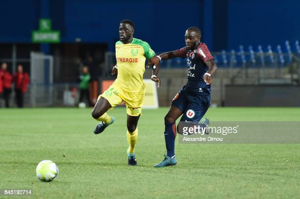 Abdoulaye Toure of Nantes and Jonathan Ikone of Montpellier during the Ligue 1 match between Montpellier Herault SC and Nantes at Stade de la Mosson...
