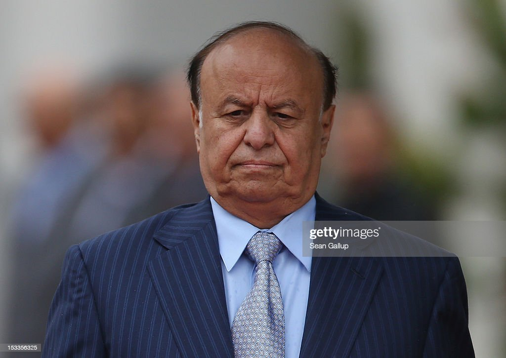 Abdrabuh Mansur Hadi, President of the Republic of Yemen, arrives at the Chancellery to meet with German Chancellor Angela Merkel on October 4, 2012 in Berlin, Germany. President Hadi succeeds former Yemeni President Ali Abdullah Saleh following bloody uprisings in Yemen months ago.