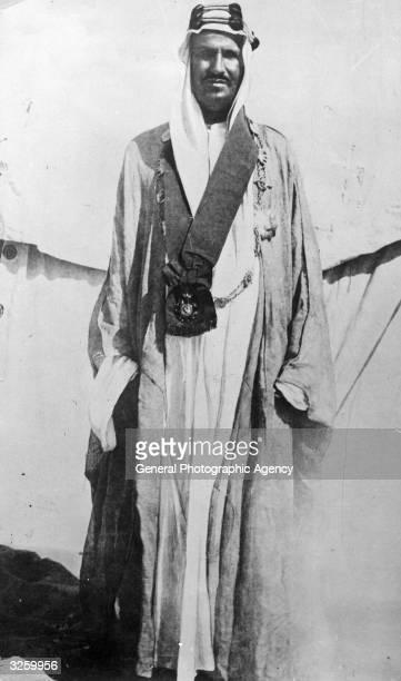 Abdul Aziz Ibn Saud King of Saudi Arabia during the Desert War