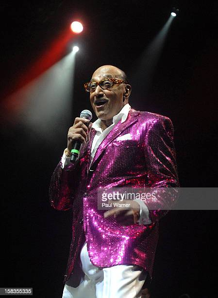Abdul 'Duke' Fakir the last original member of the Four Tops performs with the group at The Soundboard Motor City Casino on December 13 2012 in...