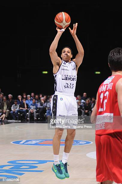 Abdul Gaddy of Obiettivo Lavoro in action during the LegaBasket match between Virtus Obiettivo Lavoro vs Openjobmetis Varese at Unipol Arena on March...