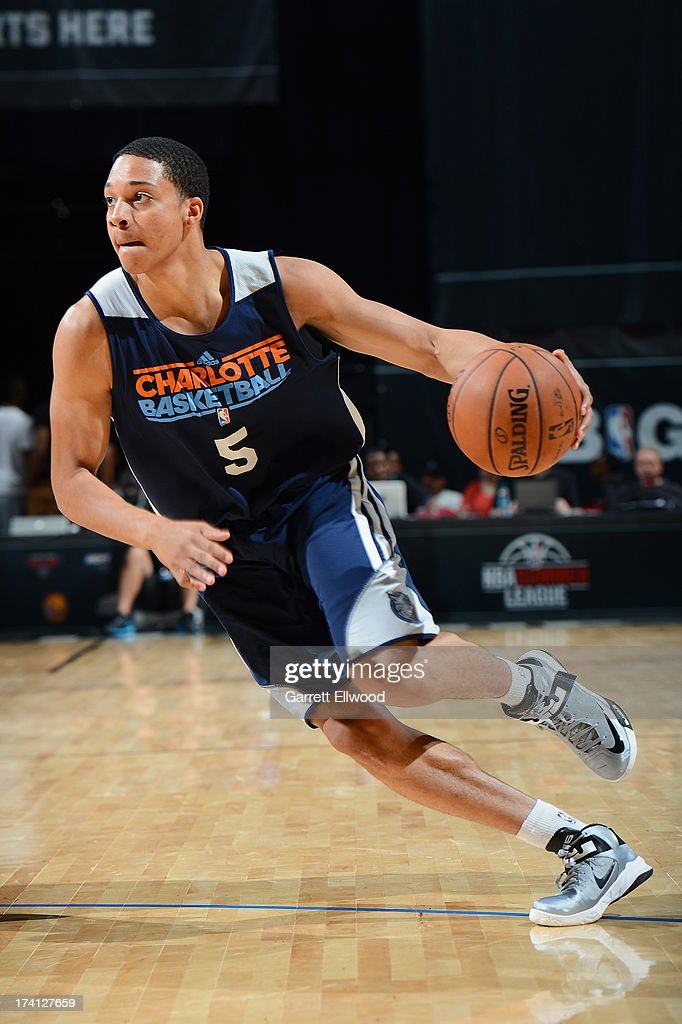 Abdul Gaddy #5 of the Charlotte Bobcats drives during NBA Summer League game between the Charlotte Bobcats and the D-League Select Team on July 20, 2013 at the Cox Pavilion in Las Vegas, Nevada.