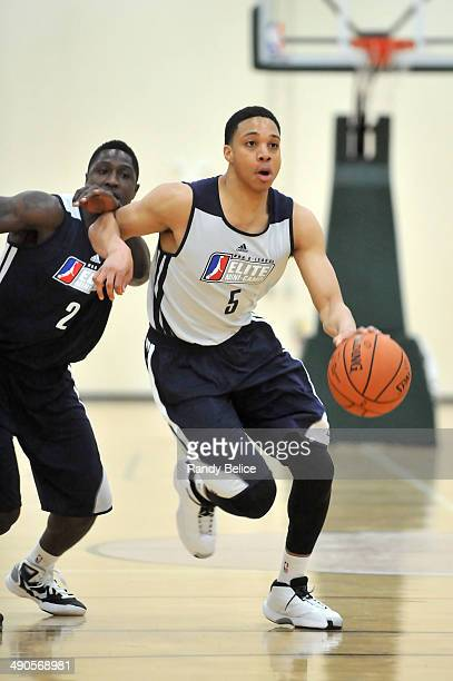 Abdul Gaddy of the Maine Red Claws moves the ball up court past Will Cherry of the Canton Charge on day two of the 2014 NBA Development League Elite...
