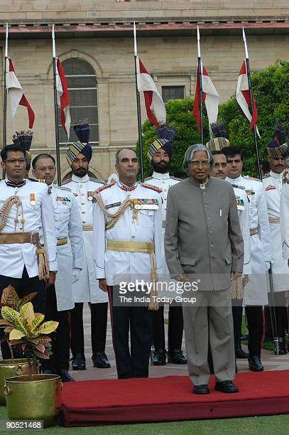 Abdul Kalam President of India at Rashtrapati Bhawan on Independence Day in New Delhi India