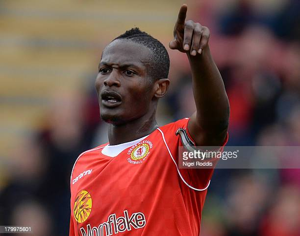 Abdul Osman of Crewe Alexanders during their Sky Bet League One match against Peterborough United at the Alexandra Stadium on September 7 2013 in...