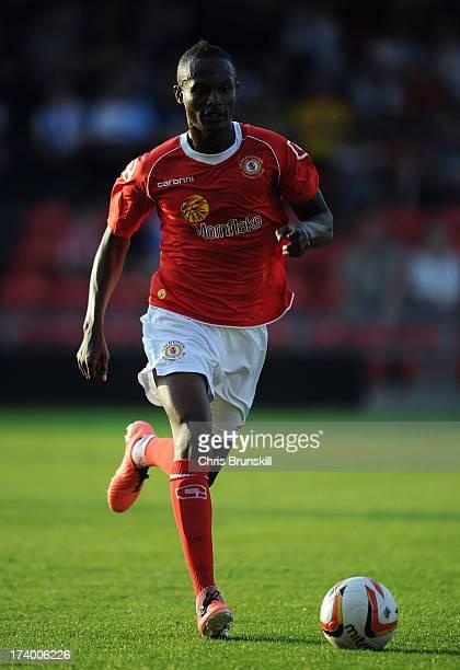 Abdul Osman of Crewe Alexandra in action during the pre season friendly match between Crewe Alexandra and Blackburn Rovers at The Alexandra Stadium...