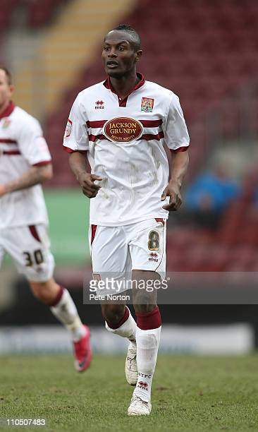 Abdul Osman of Northampton Town in action during the npower League Two match between Bradford City and Northampton Town at The Coral Windows Stadium...