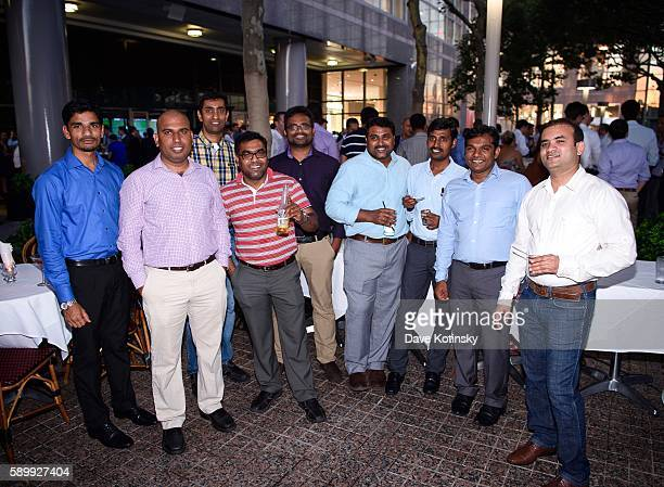 Abdul Raghav Pradeep Chandra Srini Praneeth Tulasee Vimal and Raj at the ITI Data Corporate Summer Party held at PJ Clarke's NYC on July 14 2016 in...