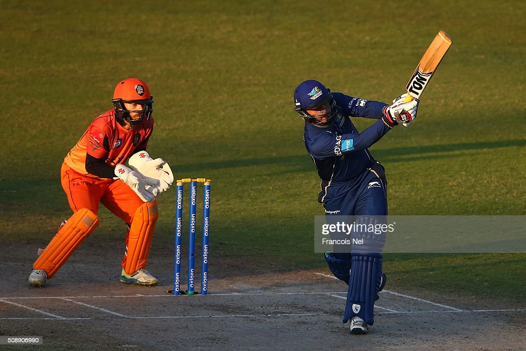 <a gi-track='captionPersonalityLinkClicked' href=/galleries/search?phrase=Abdul+Razzaq&family=editorial&specificpeople=176467 ng-click='$event.stopPropagation()'>Abdul Razzaq</a> of Capricorn bats during the Oxigen Masters Champions League match between Virgo Super Kings and Capricorn Commanders on February 7, 2016 in Sharjah, United Arab Emirates.
