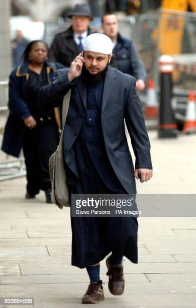 Abdul Saleem arrives at the Old Bailey in Central London today as the trial of the east London man charged with race hate crimes following a...