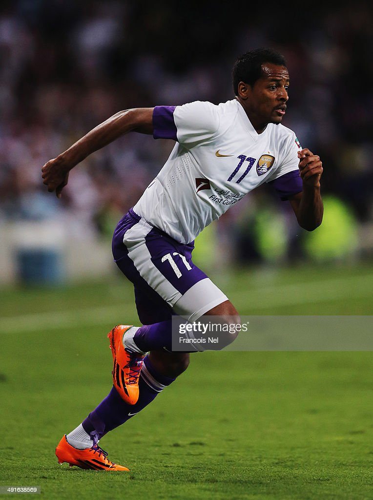 Abdulaziz Fayez of Al Ain in action during the friendly match between Al Ain and Manchester City at Hazza bin Zayed Stadium on May 15, 2014 in Al Ain, United Arab Emirates.
