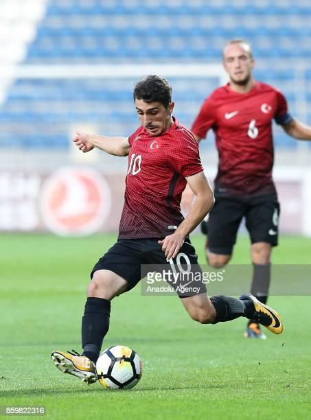 Abdulkadir Omur of Turkey in action during the 2017 UEFA European Under21 Championship qualification Group 6 football match Turkey U 21 and Hungary U...