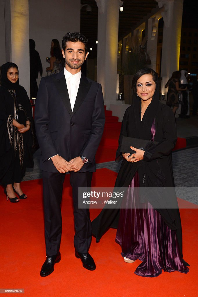 Abdullah Al Kaabi and Nayla Al Khaja attend the opening night ceremony and gala screening of 'The Reluctant Fundamentalist' during the 2012 Doha Tribeca Film Festival at Al Mirqab Hotel on November 17, 2012 in Doha, Qatar.